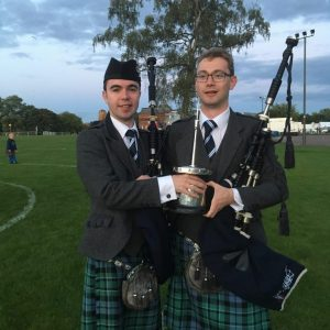 With brother Steven after Inveraray Worlds Win 2017